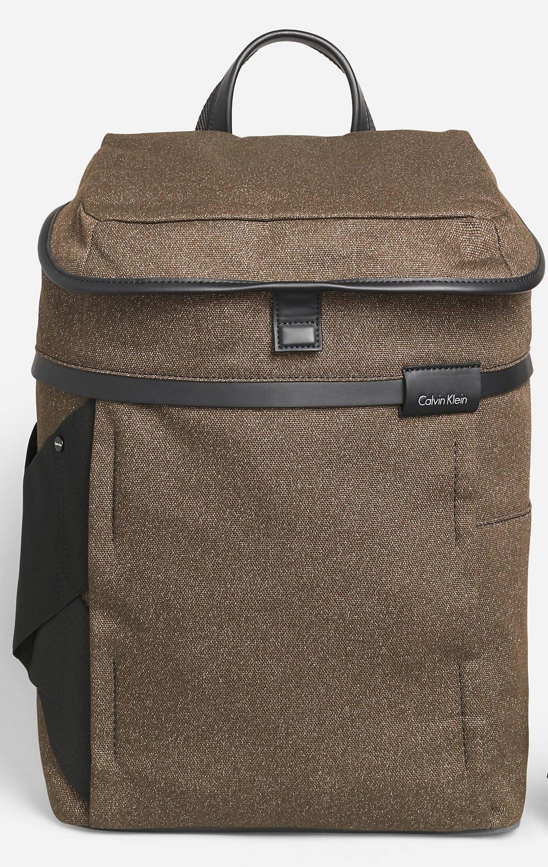 Calvin Klein Mens Fabric Travel Laptop Backpack Bag