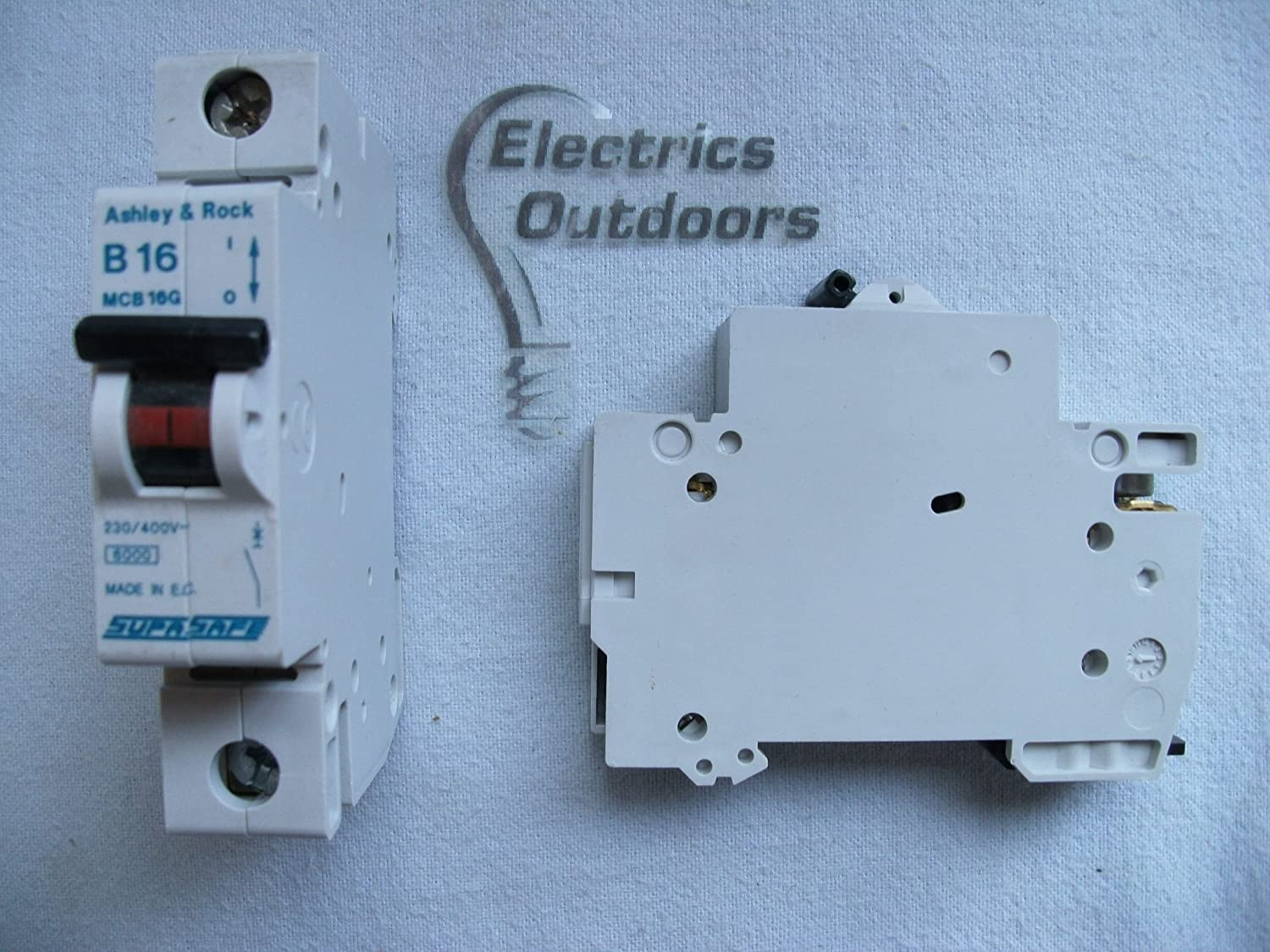ASHLEY & ROCK 16 AMP TYPE B 6 kA MCB CIRCUIT BREAKER SUPASAFE MCB16G BS EN 61009