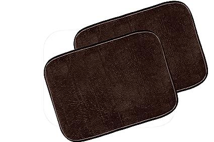 Warmland Anti Skid Solid 2 Piece Polyester Door Mat-20x 30, Brown