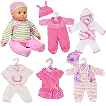 new born baby doll set of 6 outfits 12 16 baby dolls clothes romper