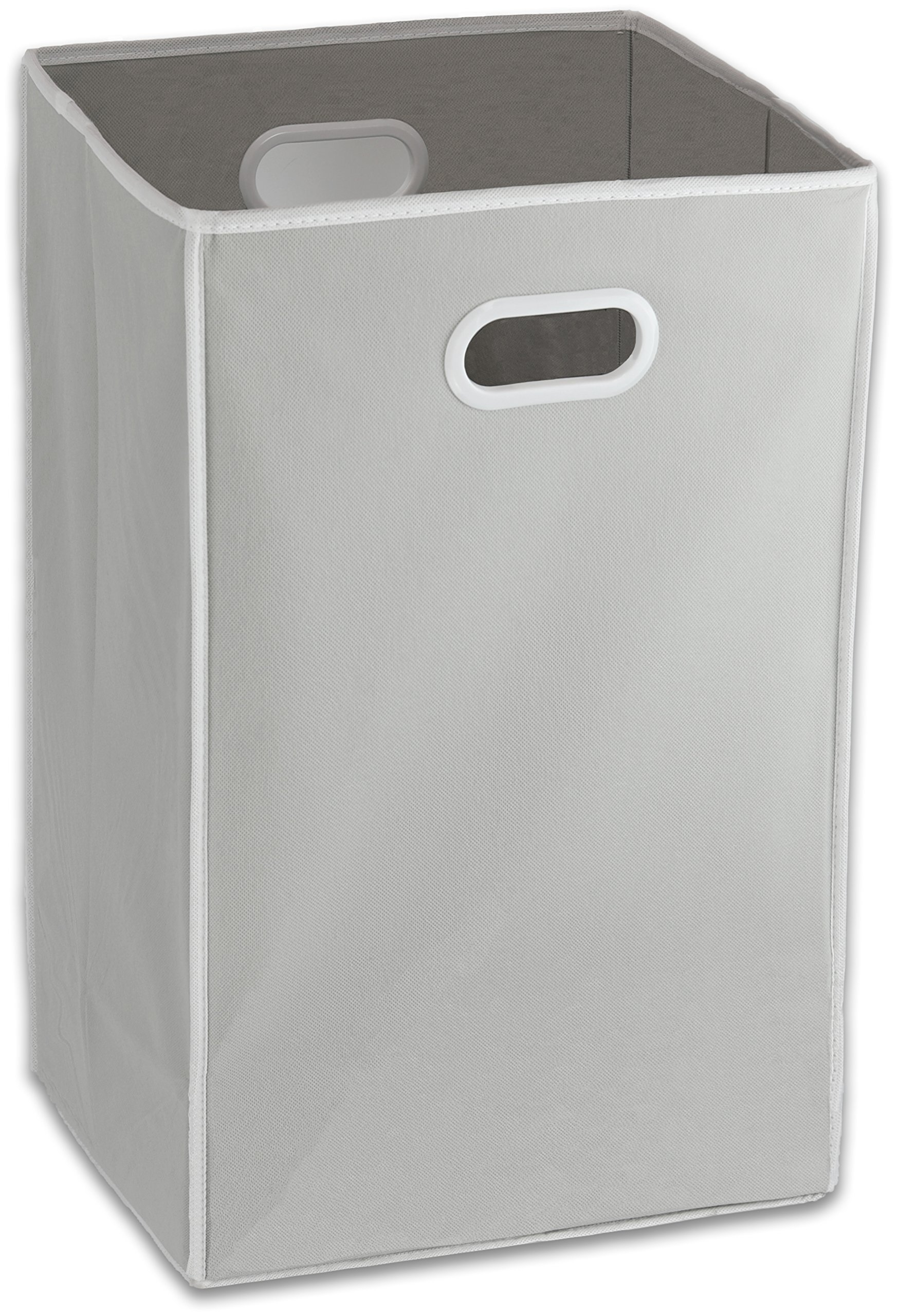 Foldable Closet Laundry Hamper Basket, Grey by Simple Houseware