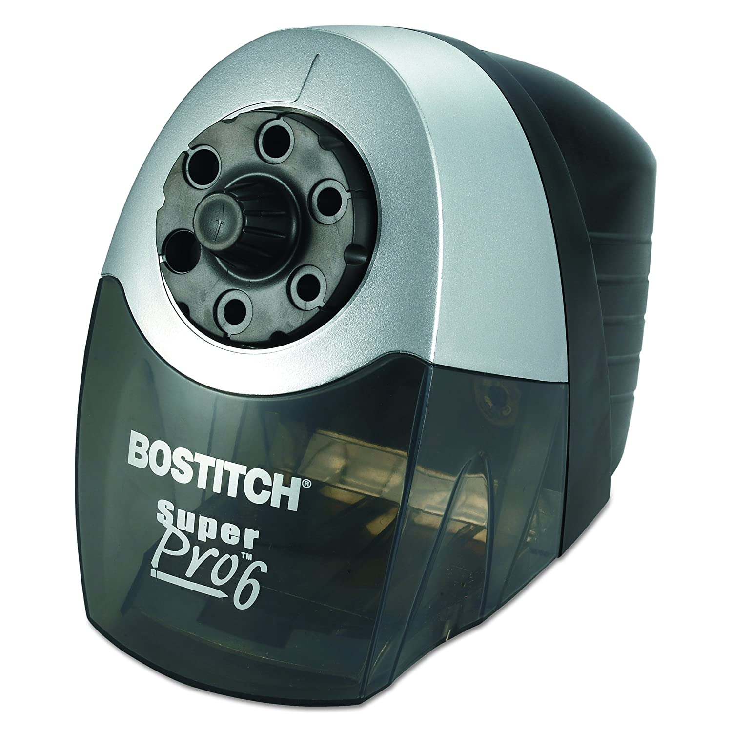 Bostitch SuperPro 6 Extra Heavy Duty Classroom Commercial Electric Pencil Sharpener, 6-Holes, Black/Gray (EPS12HC) Bostitch Office