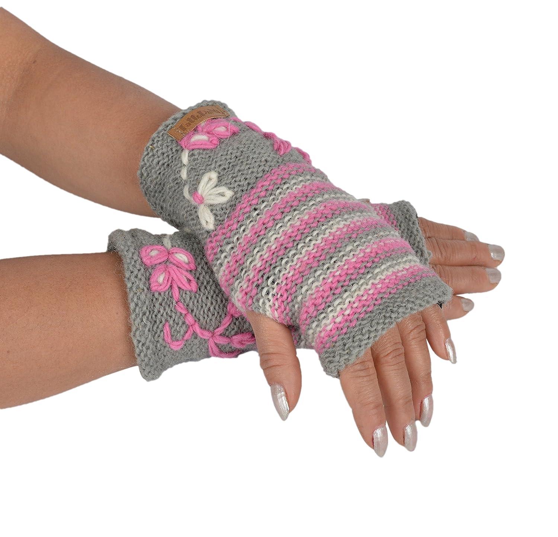 Scaldamani da donna in pile con scaldamani invernali in maglia foderata in pile GJ-HW-1056PNK