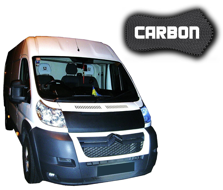Black Bull Peugeot Boxer 2 carbono coche sujetador capó parte delantera máscara capucha Tuning nuevo: Amazon.es: Coche y moto