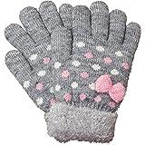 [アリサナ]arisana 手袋 キッズ ニット グローブ 女の子 ジュニア 日本製 裏起毛 ドット リボン
