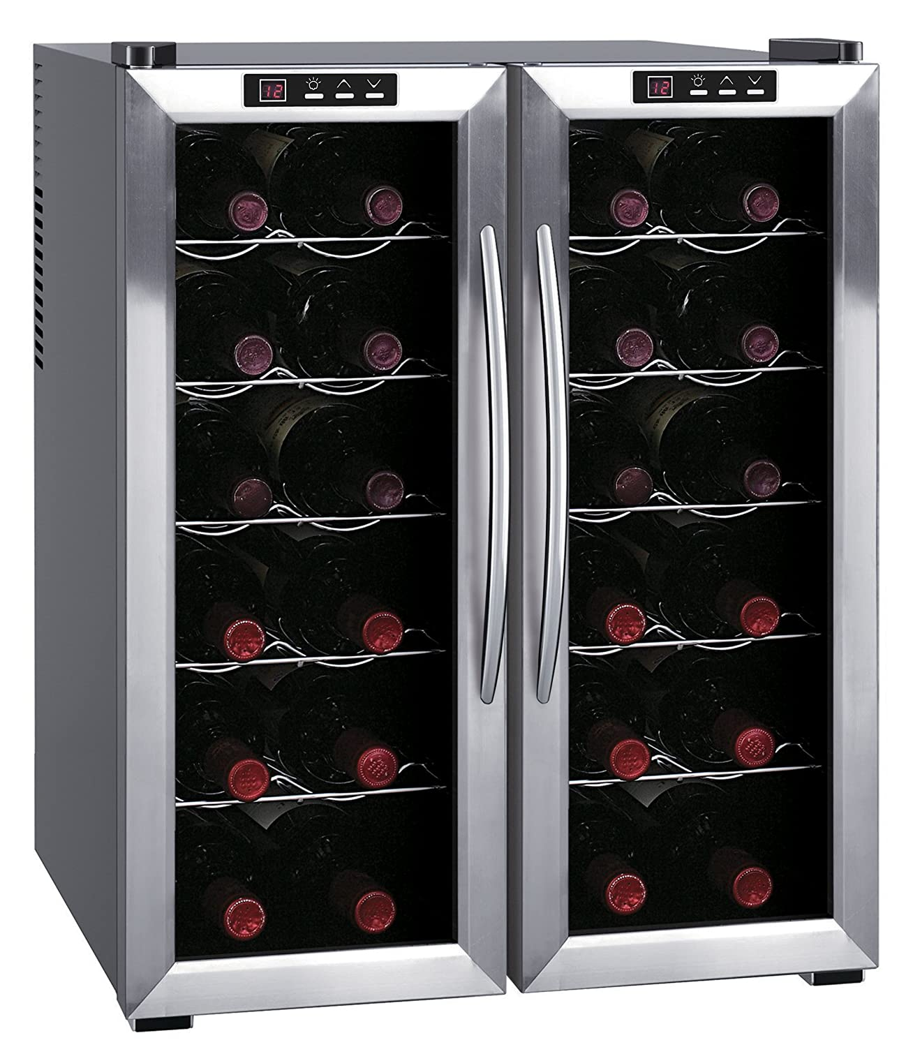 SPT WC-2461H Double-Door Dual-Zone Thermo-Electric Wine Cooler with Heating Sunpentown