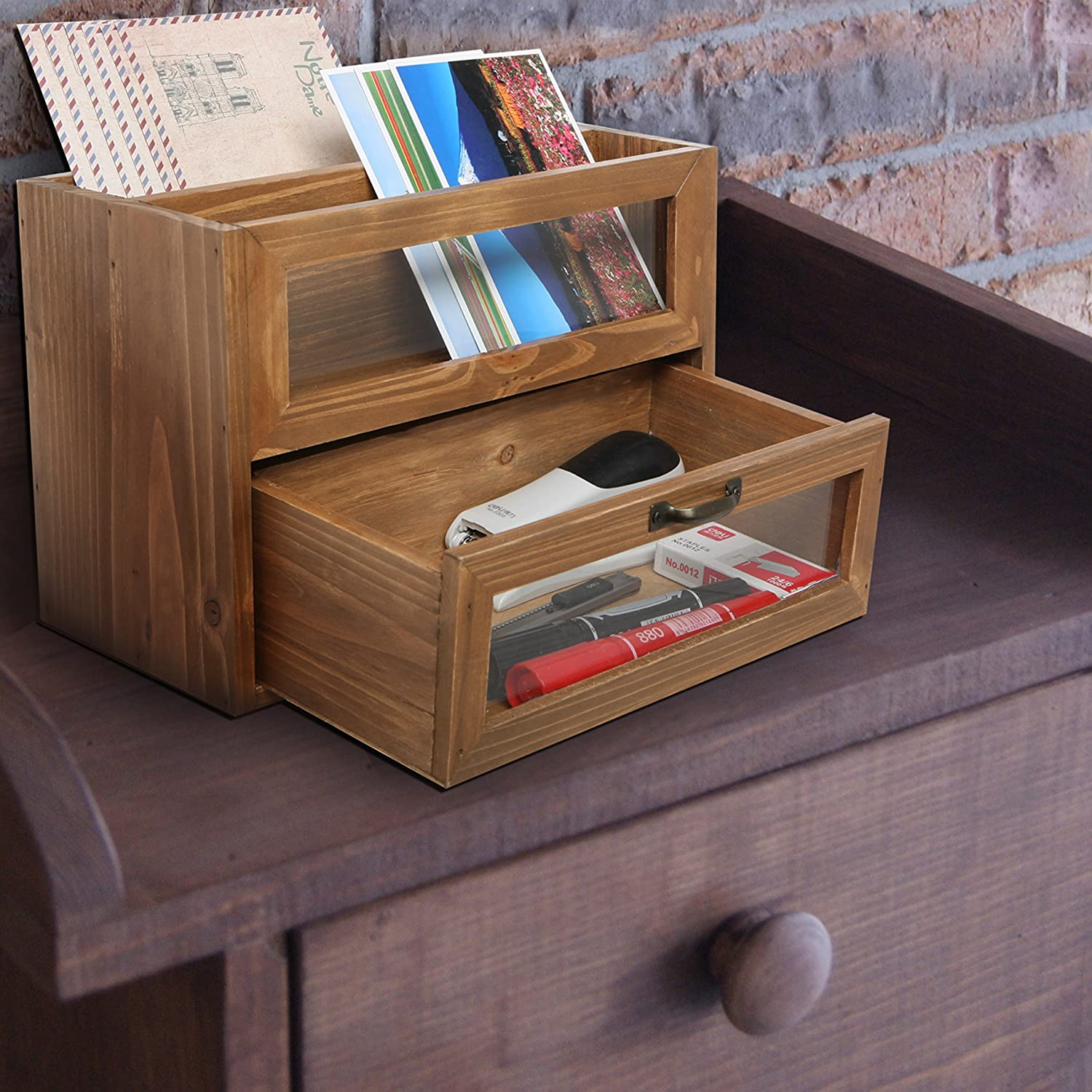 Amazon.com  Natural Unfinished Wood Mini Office Supply Storage Cabinet / File Letter Desktop Organizer - MyGift Home  Office Products & Amazon.com : Natural Unfinished Wood Mini Office Supply Storage ...