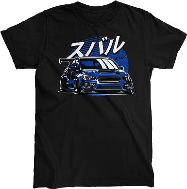 Subie Fifth Generation Blue T-Shirt   Adult Unisex Car Automotive Shirt