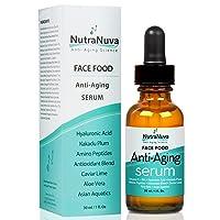 NutraNuva Face Food Anti Aging Natural Serum Complex VEGAN Formula, Kakadu Plum,...