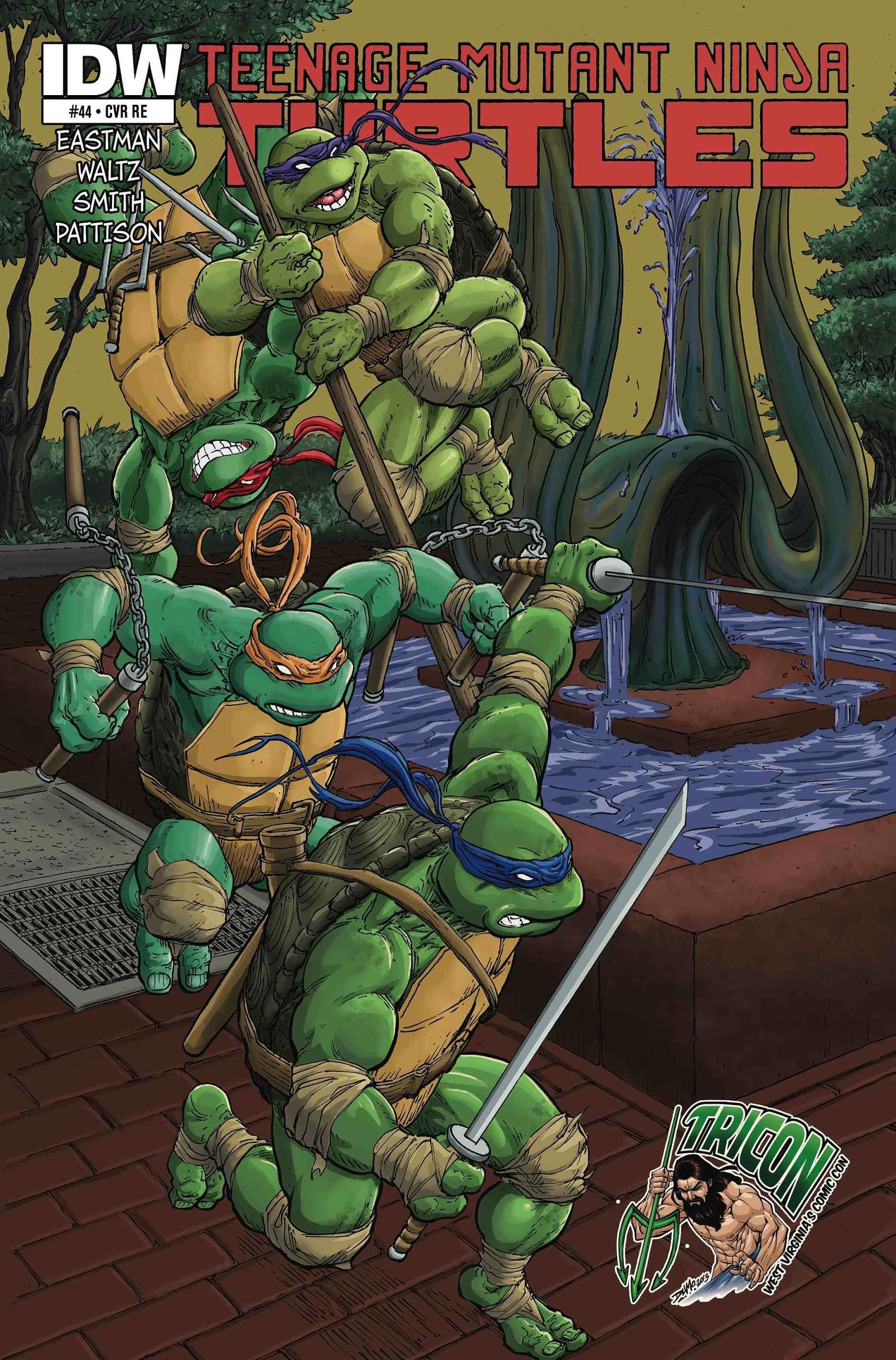 Teenage Mutant Ninja Turtles #44 RE Tricon Variant Cover ...
