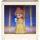 Precious Moments 164112 Belle Resin/Vinyl LED Shadow Box Disney Showcase Collection, Multicolor
