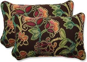 """Pillow Perfect Outdoor/Indoor Vagabond Paradise Lumbar Pillows, 11.5"""" x 18.5"""", Brown, 2 Pack"""