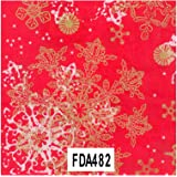 single sheet by Decopatch DECOPATCH paper no:483gold and lime green snowflakes and small lime green stars on a christmas green background