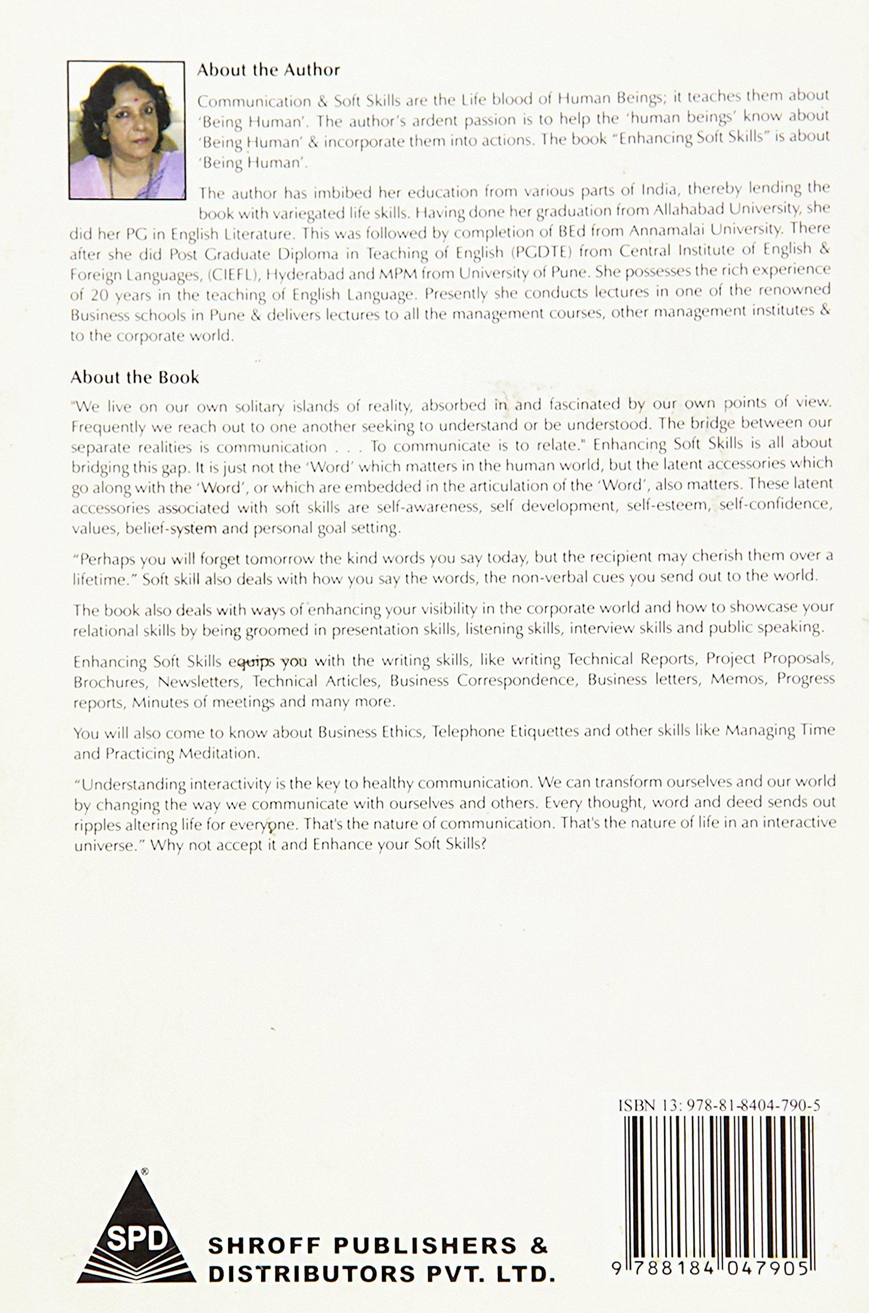 Enhancing Soft Skills Dipali Biswas 9788184047905 Amazon Com Books