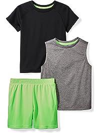 Spotted Zebra Amazon Brand Boys' Active T-Shirt, Tank and Shorts Set