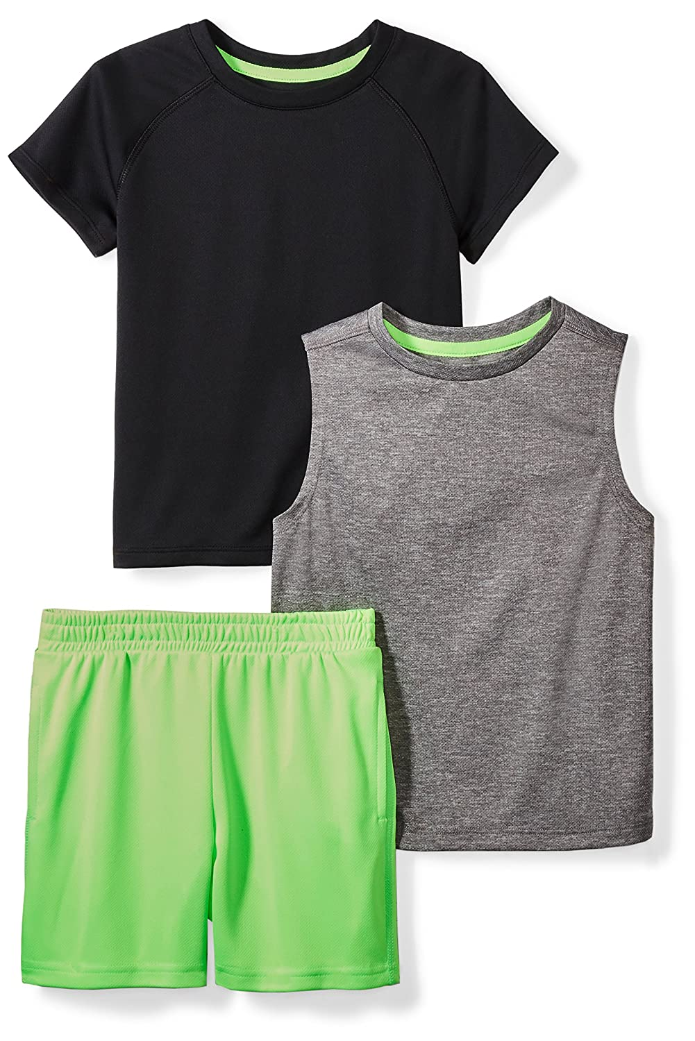 Spotted Zebra Boys Toddler /& Kids Active T-Shirt Tank and Shorts Set Brand