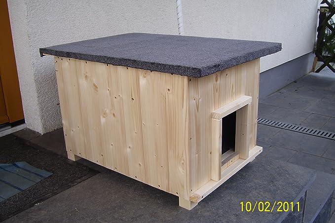 Gato Casa corta con calefacción gato cabaña de caja de lanzamiento Caseta impermeable aislado: Amazon.es: Hogar