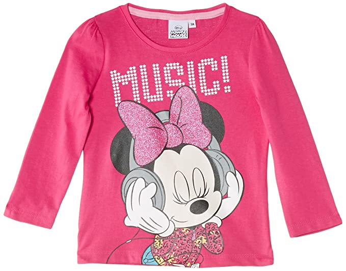 Disney Minnie Mouse Nh1243 - Camiseta para niñas, color rosa (fuschia), talla