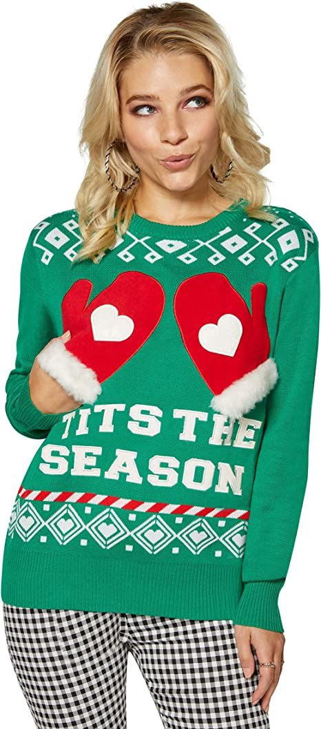 Spencer Gifts Tits The Season Christmas Sweater