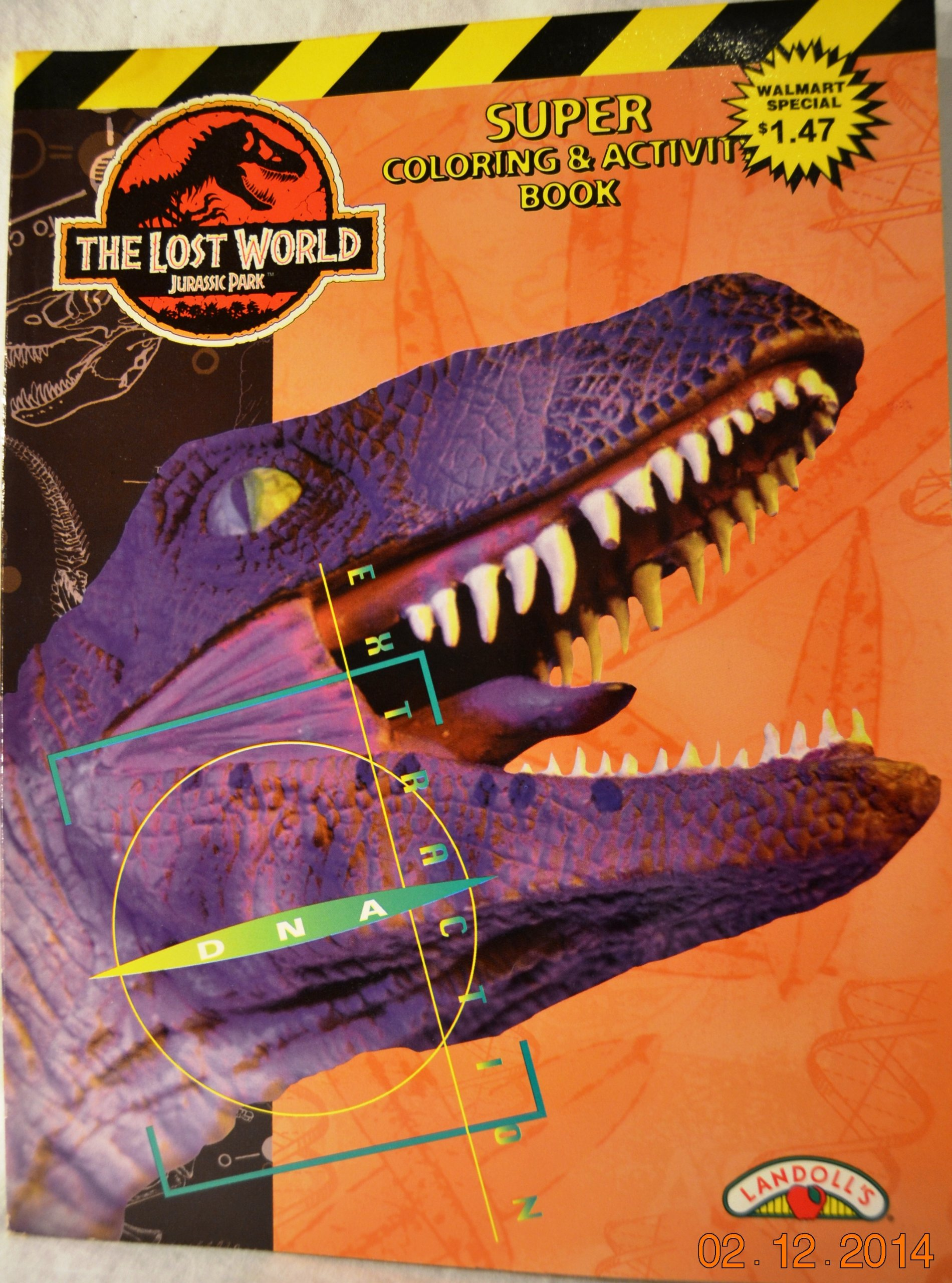 The Lost World Jurassic Park Super Coloring Activity Book Landolls 9781569879511 Amazon Books