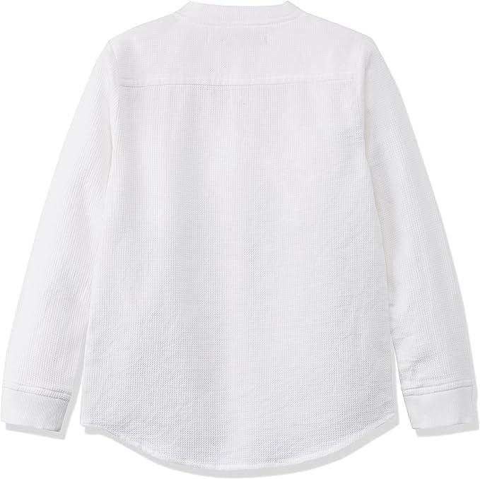RED WAGON Waffle Grandad Shirt Camisa para Niños, Blanco (White), 6 años: Amazon.es: Ropa y accesorios