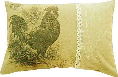 30 x 45 cm cojín relleno cojines beige presión gallo gallina ...