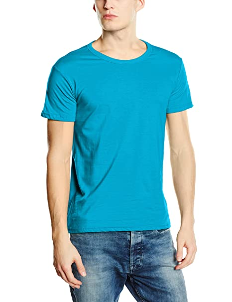 Stedman Apparel Herren Regular Fit T-Shirt Gr. S, Blau - Hawaii Blue