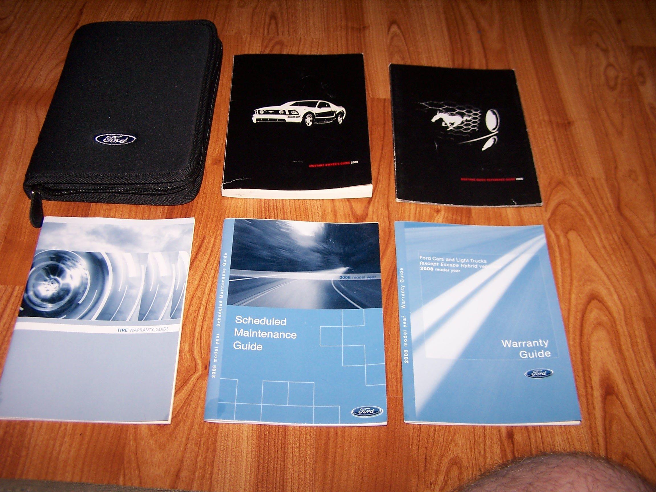 mustang 2008 owners manual