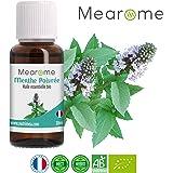 Huile Essentielle BIO de Menthe Poivrée Mearome - 30 ml - 100% Pure et Naturelle - HEBBD - HECT - Qualité et Fabrication Française