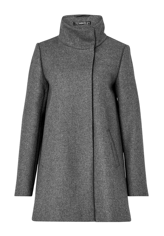 Hallhuber mantel grau mit stehkragen