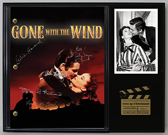 Gone With The Wind Ltd Edition Reproduction Signed Cinema Script