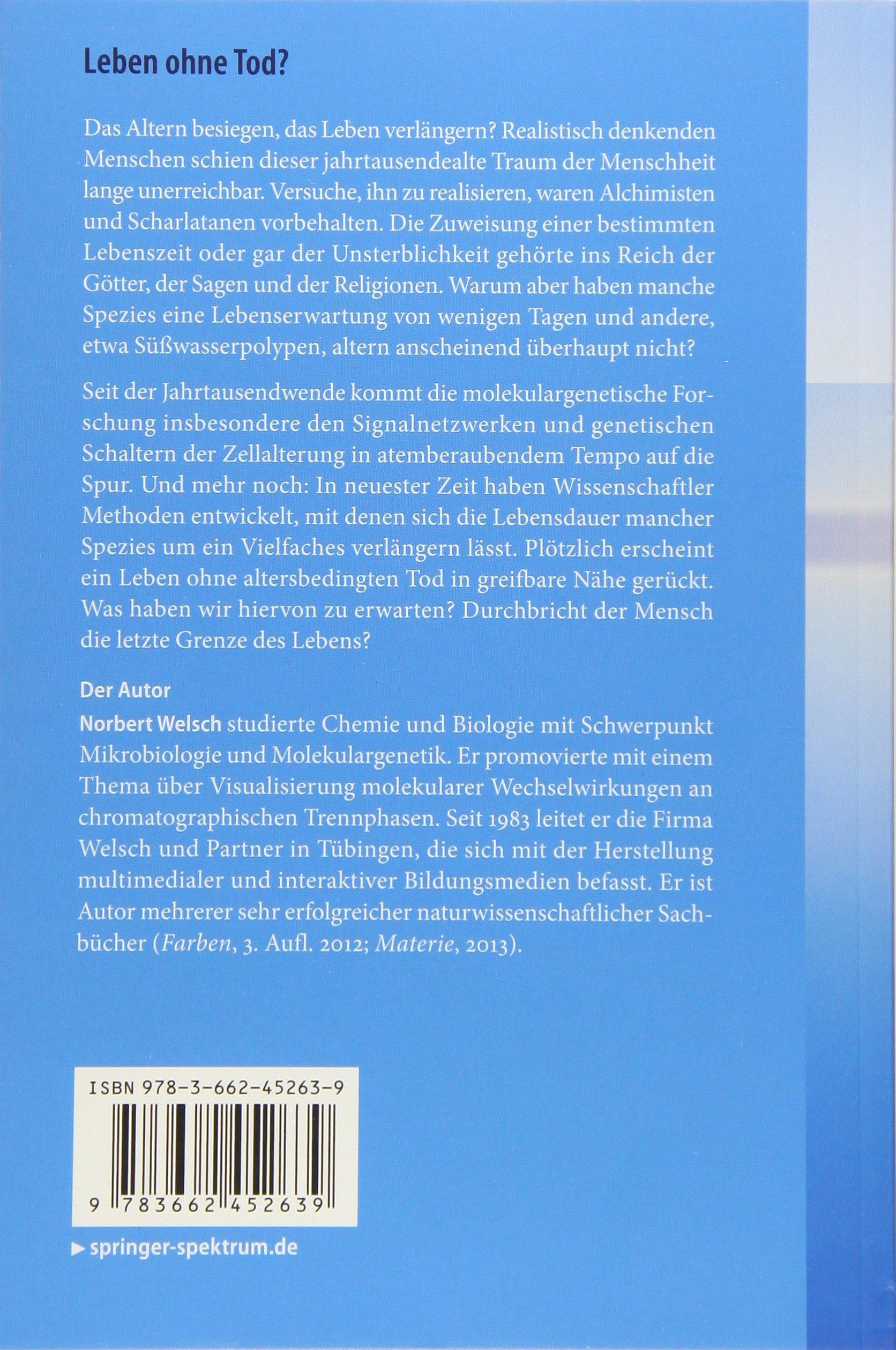 Leben ohne Tod?: Forscher besiegen das Altern: Amazon.de: Norbert ...