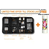 """SmartFish® [ORGANIZER PRO] 7"""" tab Travel case With LCD Cleaner FREE"""