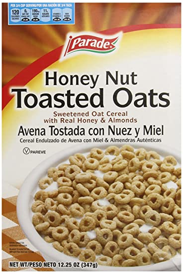 Parade Cereal, Honey Nut Toasted Oats, 12.25 Ounce