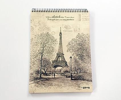 Hecho a mano viajeros Notebook piel, diario recargables ...