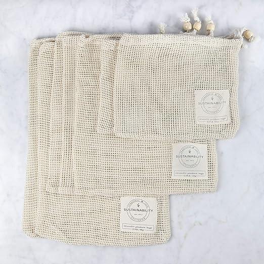 Sandstone & Sage - Bolsas reutilizables de algodón orgánico ...