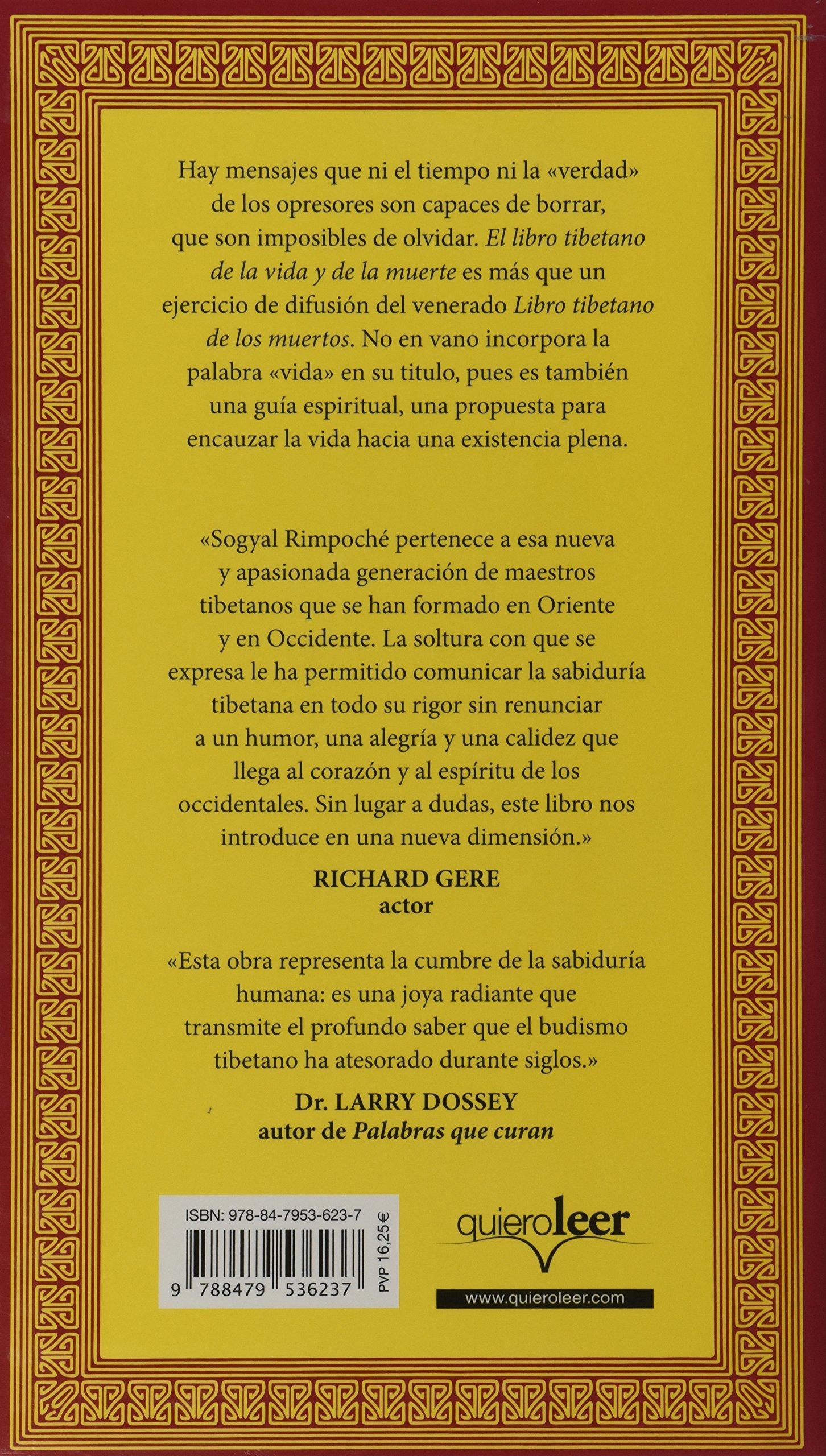 El Libro Tibetano De La Vida Y De La Muerte Crecimiento Personal Spanish Edition Sogyal Rinpoche 9788479536237 Amazon Com Books
