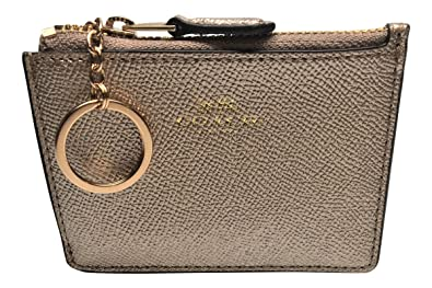 6d9ae57bbecdd Image Unavailable. Image not available for. Color  Coach Crossgrain Leather Mini  ID ...