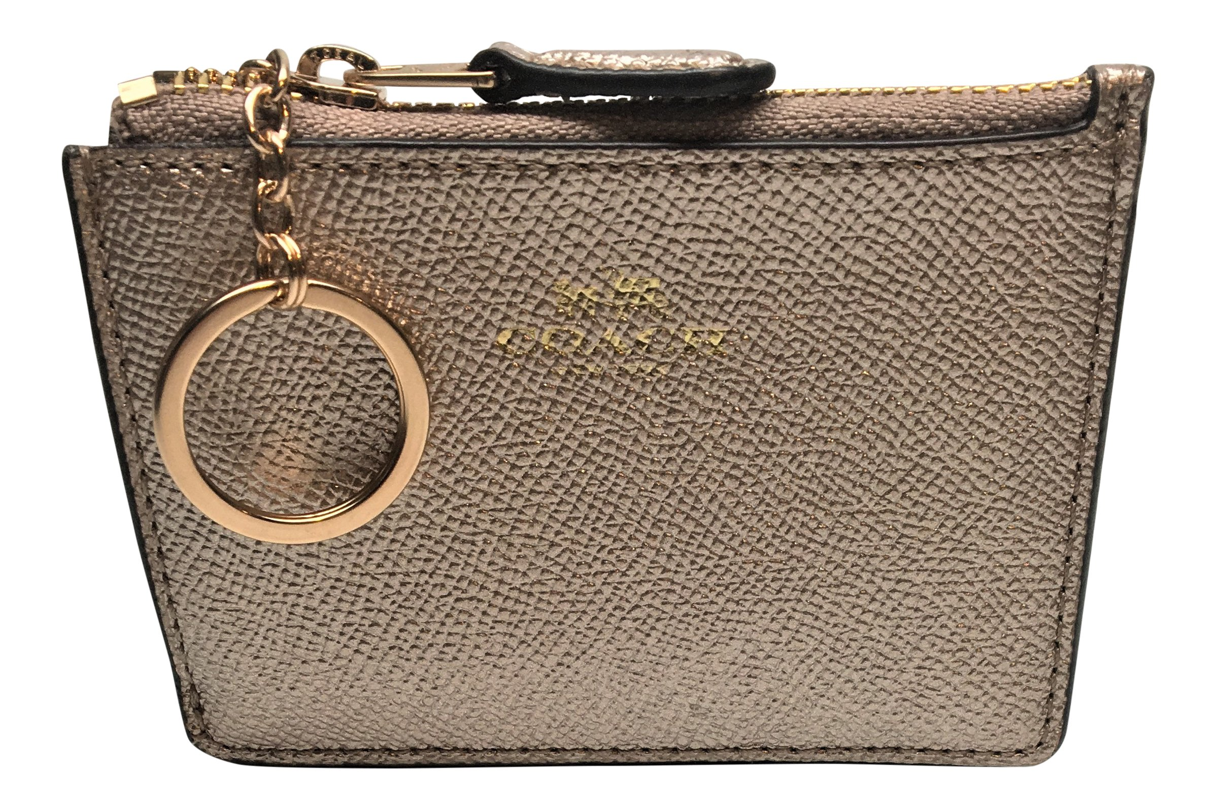 Coach Crossgrain Leather Mini ID Skinny Platinum F21072