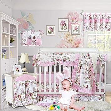 Floral Nursery Toddler Bedding. Baby Gift Nursery Decor Baby Bedding Girls Nursery Fitted Crib Sheet Crib Sheets Floral Crib Sheet
