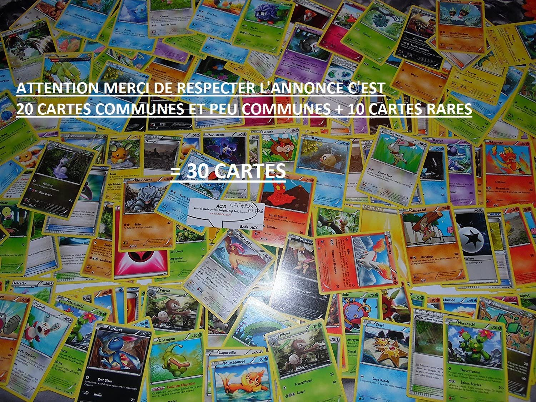 Lot 100 Cartes Pokemon Francaises 100/% Pas de double NEUF Brillante Rare