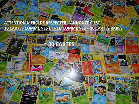 Nintendo - Lote de 20 cartas Pokémon comunes aleatorias de ...