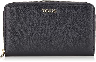 Tous Billetera Mediana Rose Bear, Cartera para Mujer, (Negro), 2.5x10x13