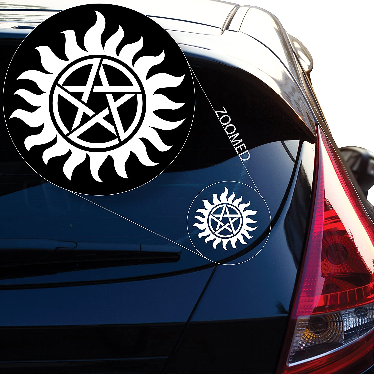 Amazon com yoonek graphics supernatural decal sticker for car window laptop and more 802 4 automotive