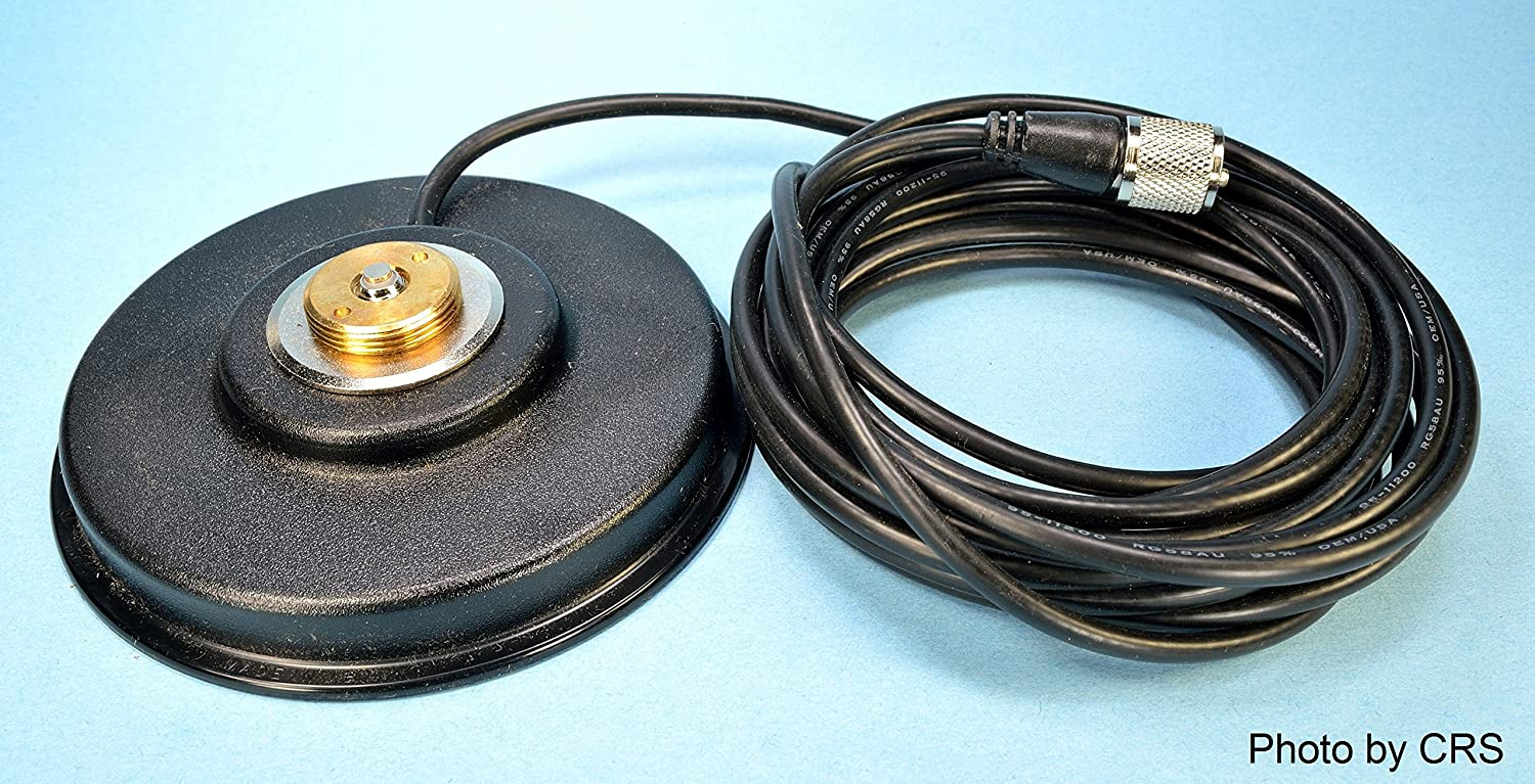Workman PM5-NMO CB Radio Antenna Magnet Mount with PL-259 Plug /& 16` Foot Coax