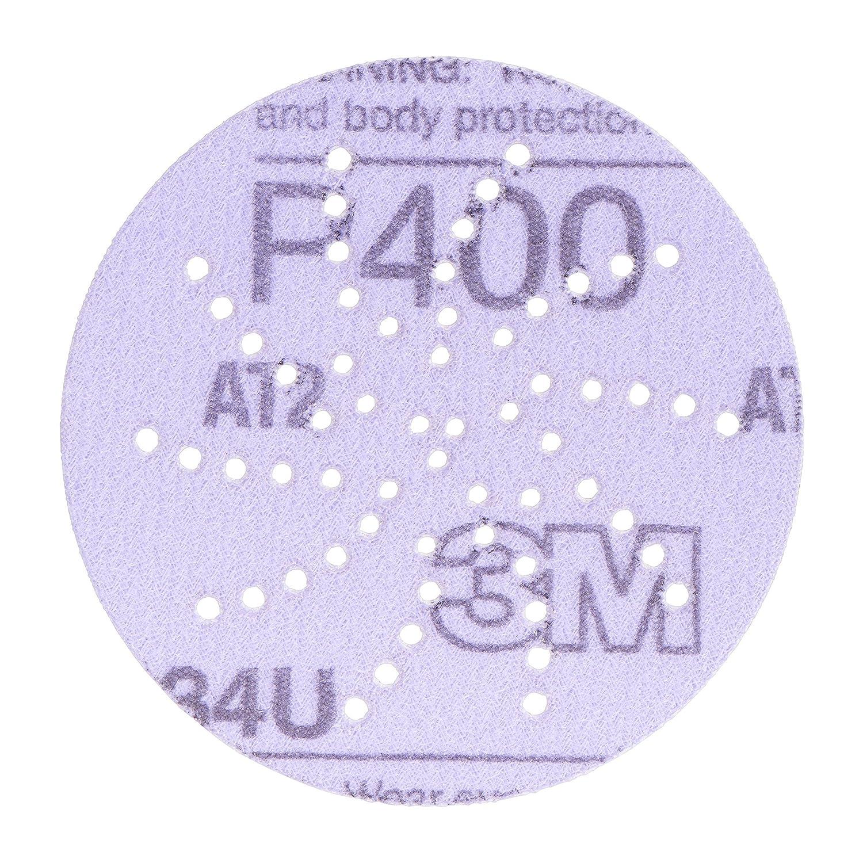 01813-4PK Pack of 4 3M 01813 Hookit Purple 6 P280C Grit 334U Clean Sanding Disc