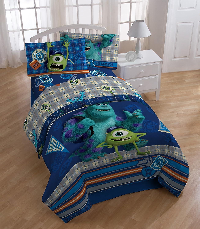 ディズニーモンスターズインク 寝具3点セットシングルサイズ(シーツボックスシーツ枕カバー) B00BWL491C