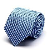 MUCO cravatta Uomo Cravatta poliestere Moda Tie Regali per uomini Confezione regalo Regalo festa del papà