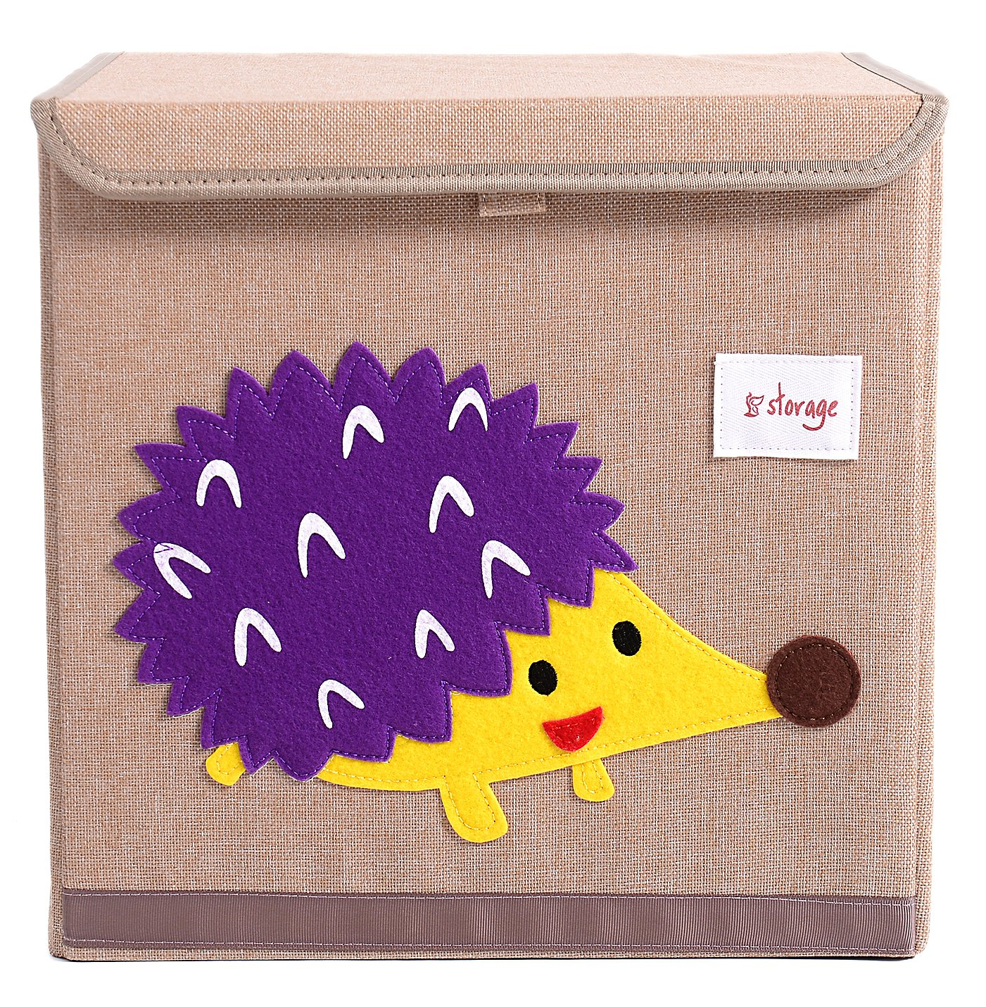 HIYAGON 13''x13''x13''Storage Box/Bin/Cube/Basket/Chest/Organizers with Lids for Bedroom, Nursery, Playroom, Toys, Clothing, Blankets, Books, More(Hedgehog) by HIYAGON (Image #1)