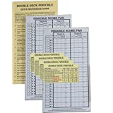 Pinochle Score Pad Pack of 2: Two-40 Page Score Pads, Four Meld Tables and Double Pinochle Quick Reference Card